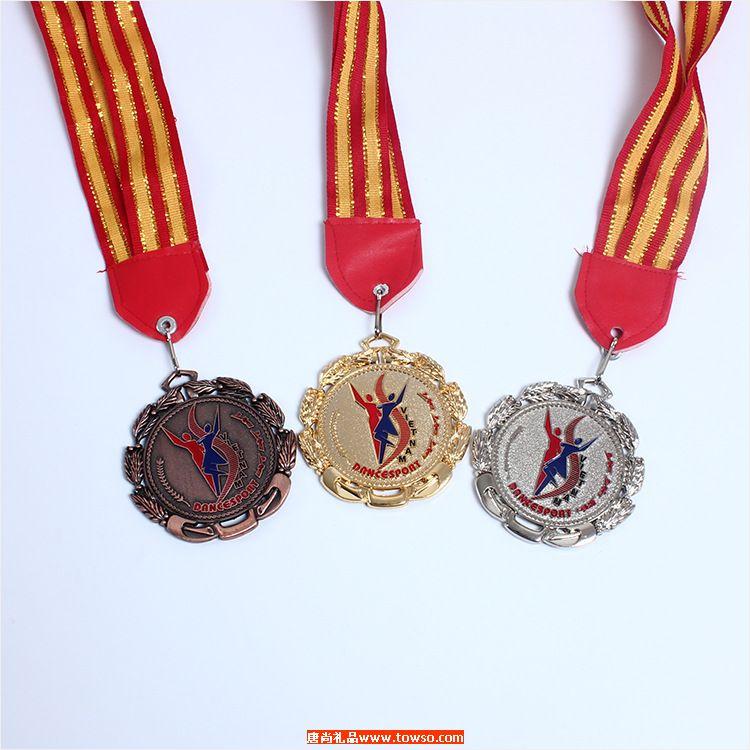 每一届运动会必须发的彩带挂式运动会奖章
