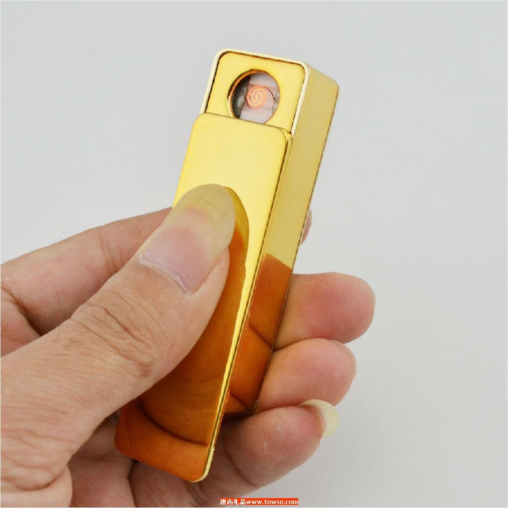 盘个性电子点烟器USB充电打火机