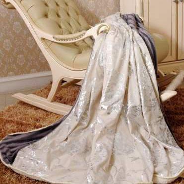 罗马风情羊绒被套毯