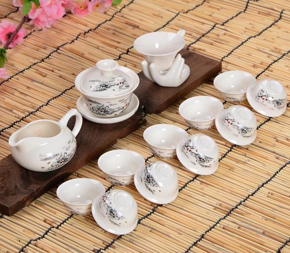 整套陶瓷功夫茶具 高档礼品茶具
