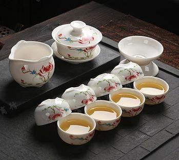 档礼品茶具 整套陶瓷功夫茶具套装 茶盘特价批发LOGO