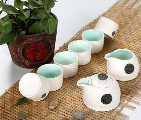 古陶汝窑茶具 精品雪花釉茶具套装 中秋礼品