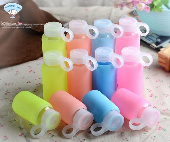 创意果冻硅胶套彩色玻璃杯 水杯 耐高温玻璃水杯 礼品促销