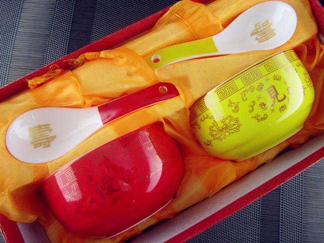 僾见忾闻 定做寿碗 福寿长寿 加字烧字刻字红黄陶瓷饭碗