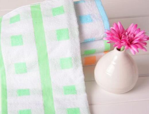 洁丽雅正品 纯棉方格毛巾 强吸水 柔软舒适面巾毛巾