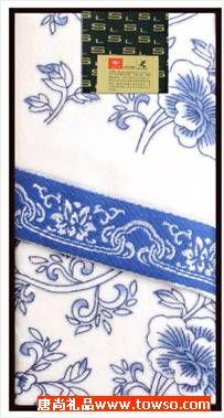 三利毛巾青花瓷系列单条装