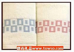 三利毛巾简约系列2条装