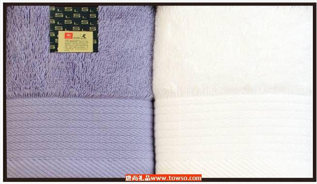 三利毛巾长绒棉系列2条装