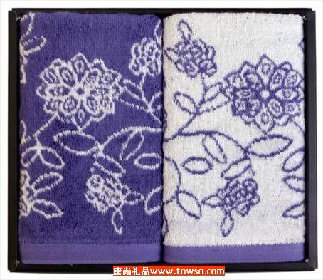 三利毛巾青花瓷系列双条装