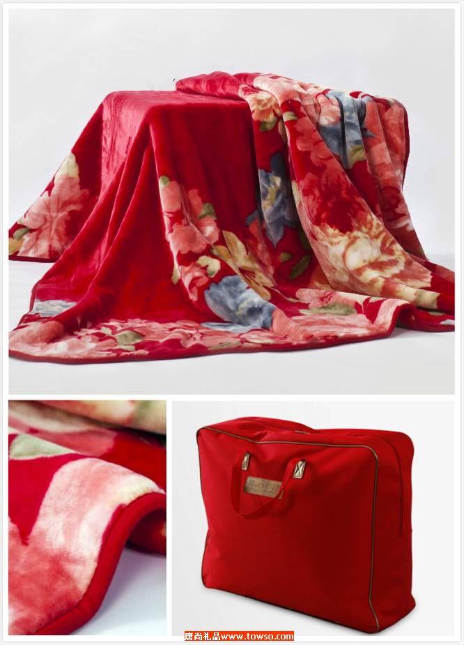 拉舍尔厚毯:胭脂容