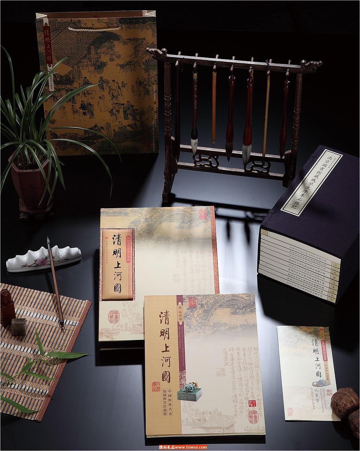 清明上河图丝绸邮票珍藏册