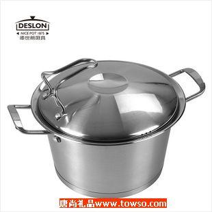 正品徳世朗T035 德国进口不锈钢可立盖煲汤多用复底蒸锅炖锅汤锅