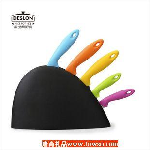 徳世朗优质不锈钢多用炫彩套刀面包刀水果刀万用刀正品
