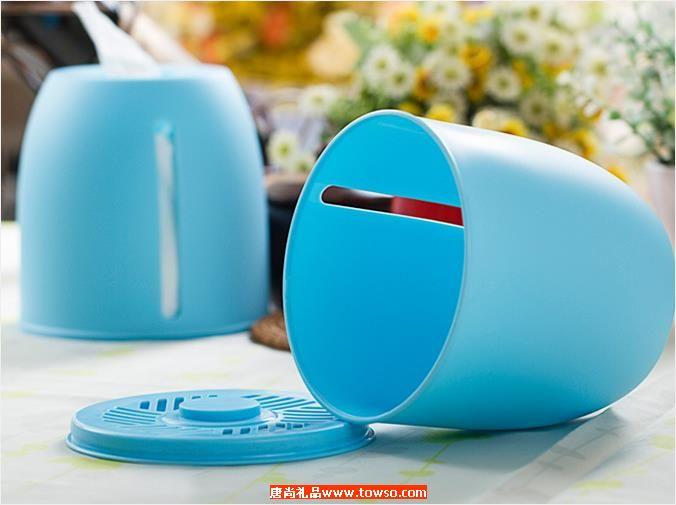 圆形双向纸巾筒 纯色创意纸筒抽纸盒