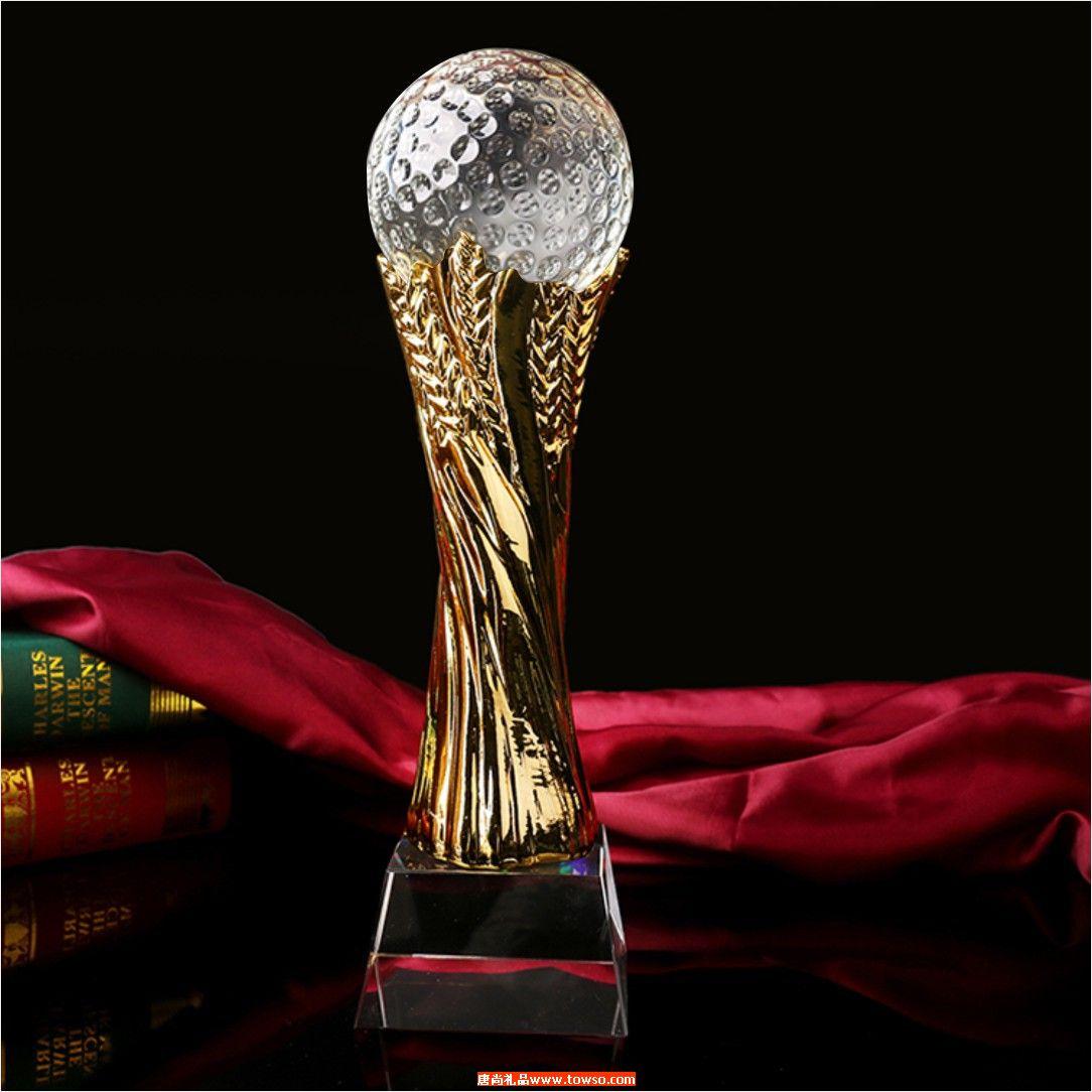 水晶奖杯奖牌足球篮球高尔夫台球比赛奖杯定制高档商务颁奖