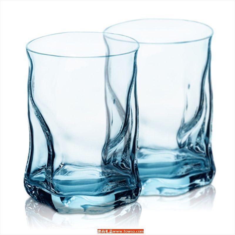 索珍特冰蓝波浪杯2件套
