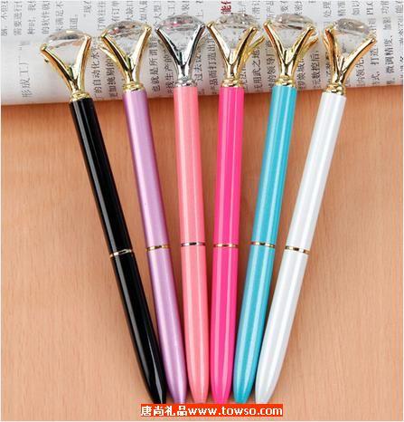 创意大钻石广告笔定制 水晶笔学生礼品金属圆珠笔