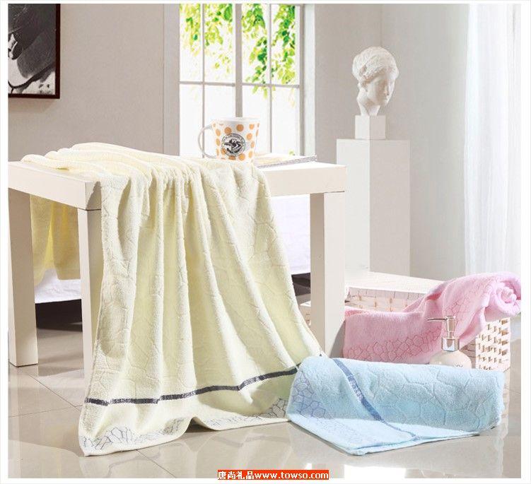 全棉水立方浴巾