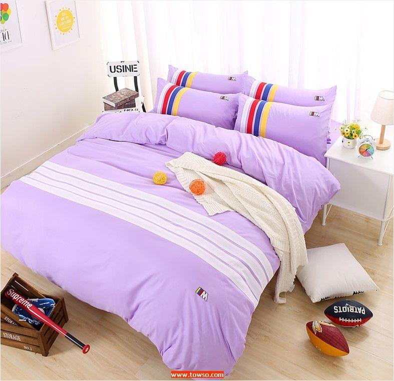 时尚运动(单被套)浅紫